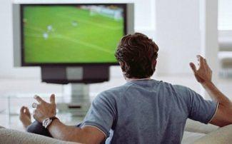 Guy watching sports