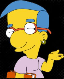 Milhouse looking sly